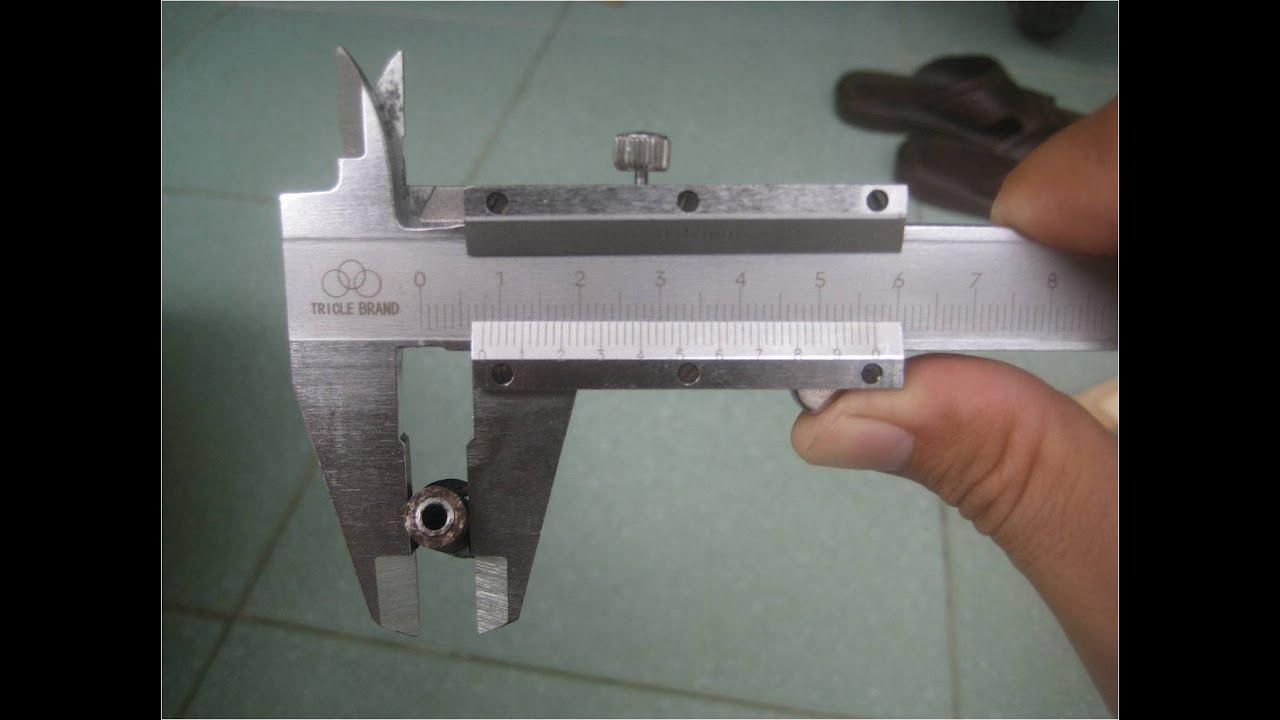 Cách sử dụng thước cặp (thước kẹp)