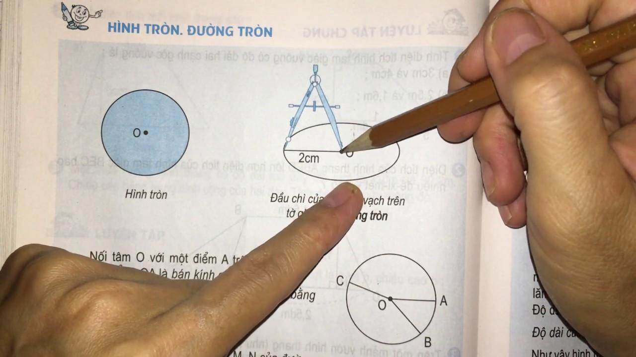 Hình tròn, đường tròn (trang 96) – Toán lớp 5 sgk