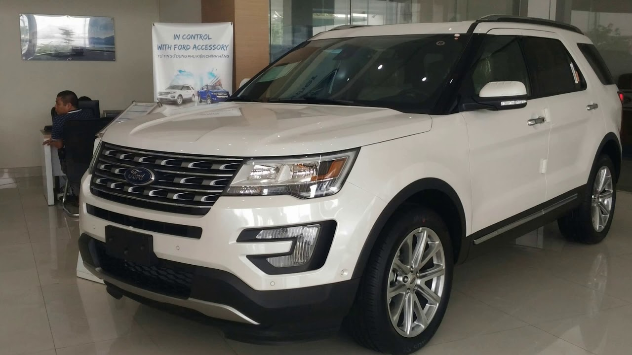 Ford explore 7 chỗ nhập khẩu Mỹ Ford 7 chỗ Explorer màu trắng