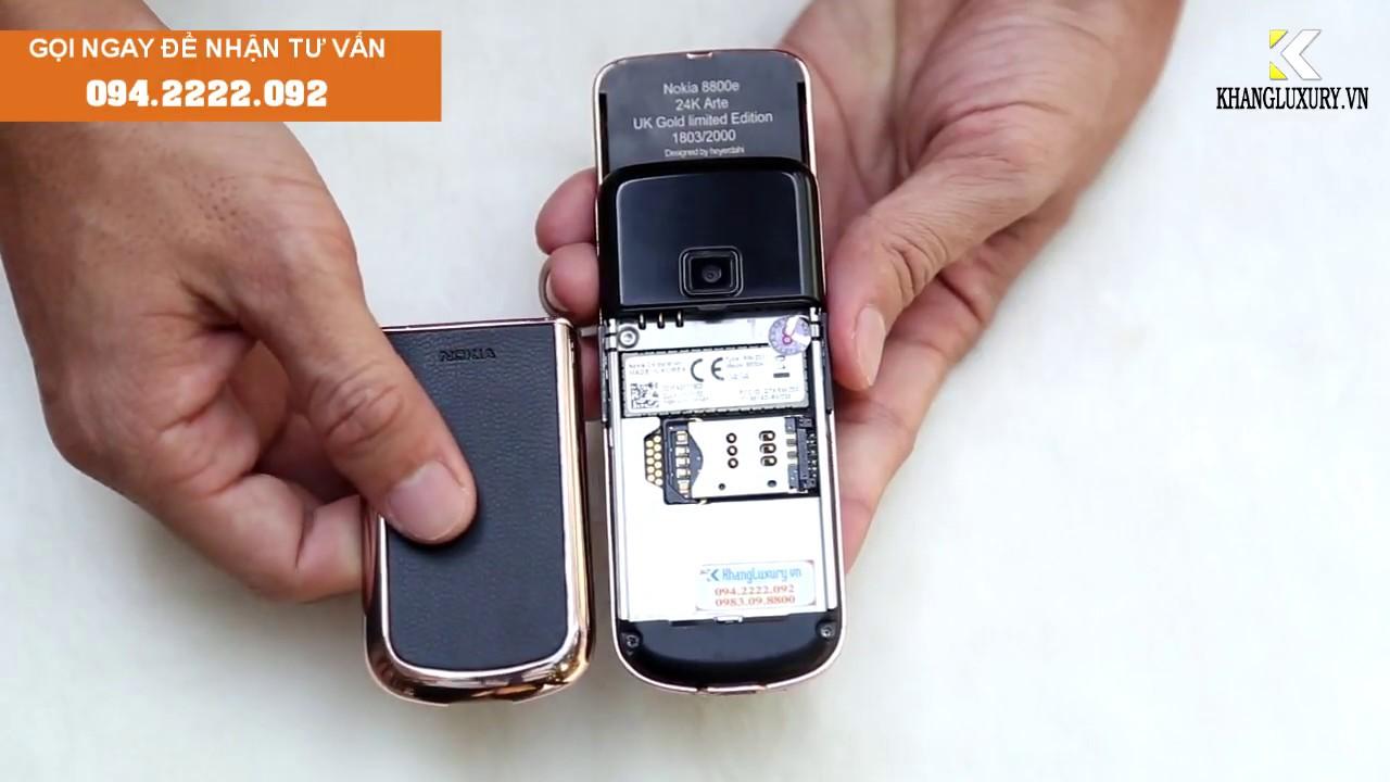 [Khuyến mãi] Nokia 8800 art black vàng hồng đính đá  – [khangluxury,vn]