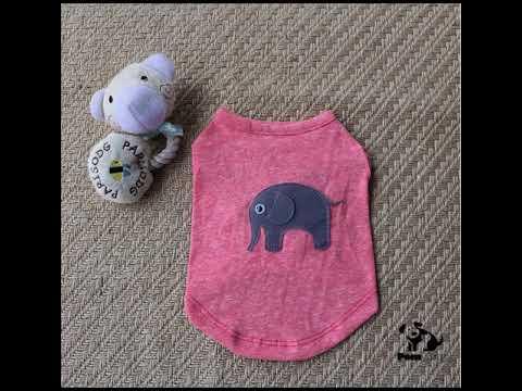 Quần áo chó mèo thêu con voi – PS29