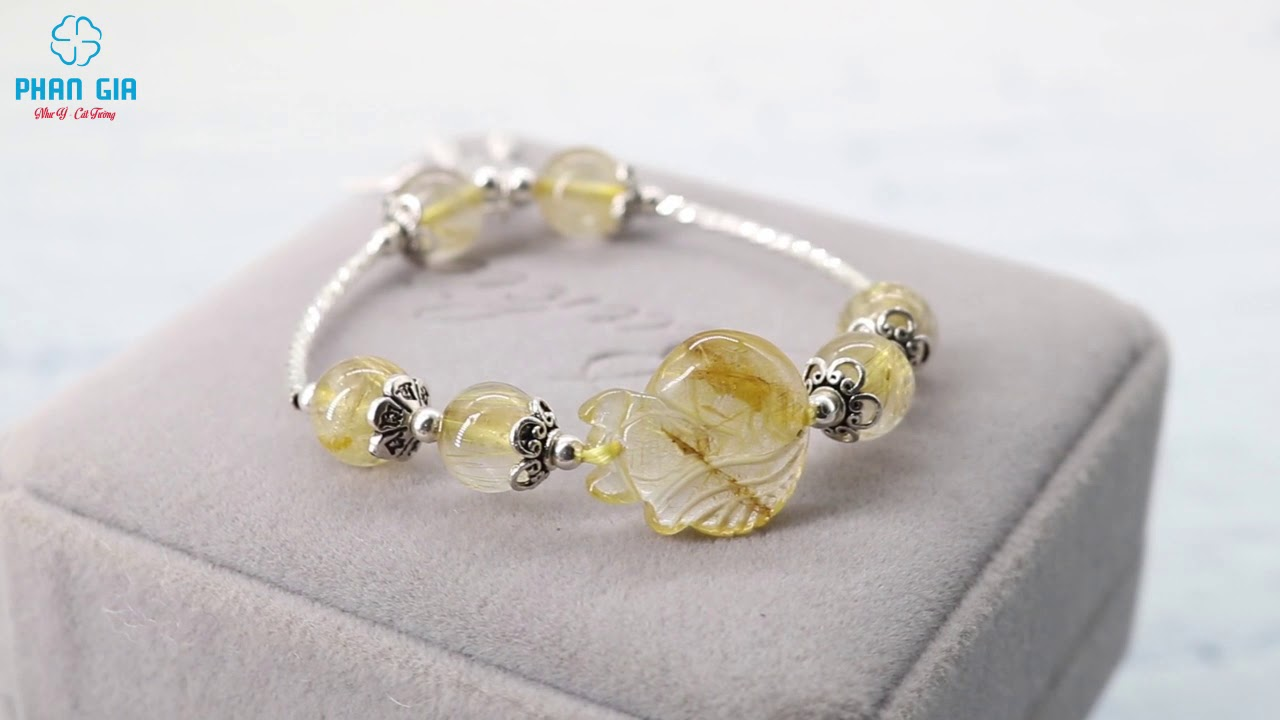Vòng tay Hồ ly tóc vàng mix charm bạc tại Vinh, Nghệ An  Phong Thủy Phan Gia