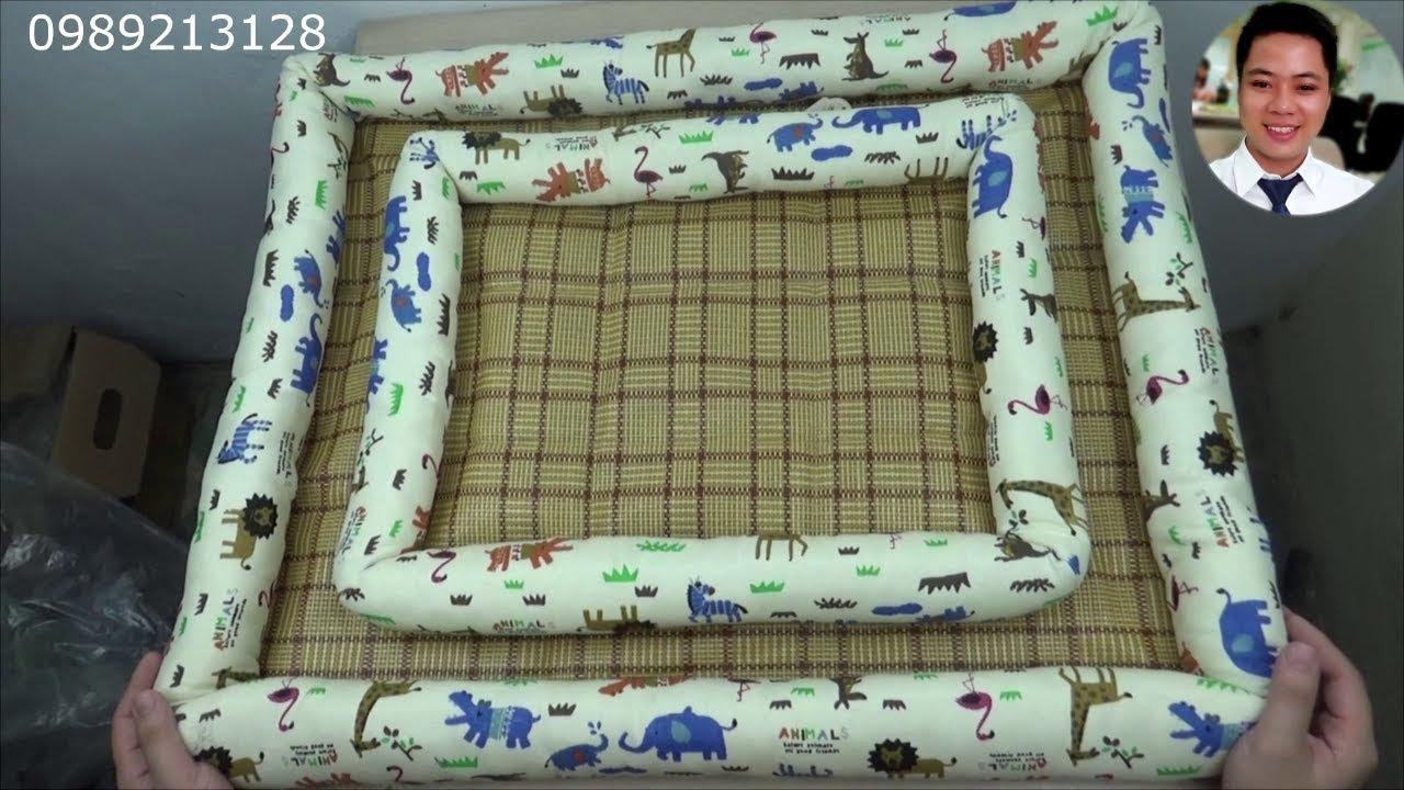 Nệm cho chó mèo, giường đệm cho thú cưng nằm 4 mùa MS475 | Ổ nằm chó mèo