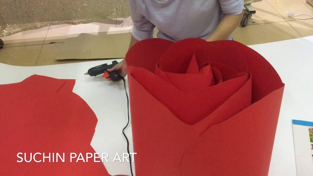 [SỐC] Chi tiết cách làm hoa hồng Thái giấy mỹ thuật khổng lồ – HOA GIẤY SUCHIN – VIDEO SỐ 27